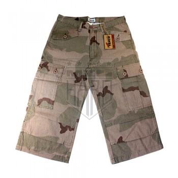 US BDU мужские шорты милитари с карманами карго, камуфляж 3-color desert