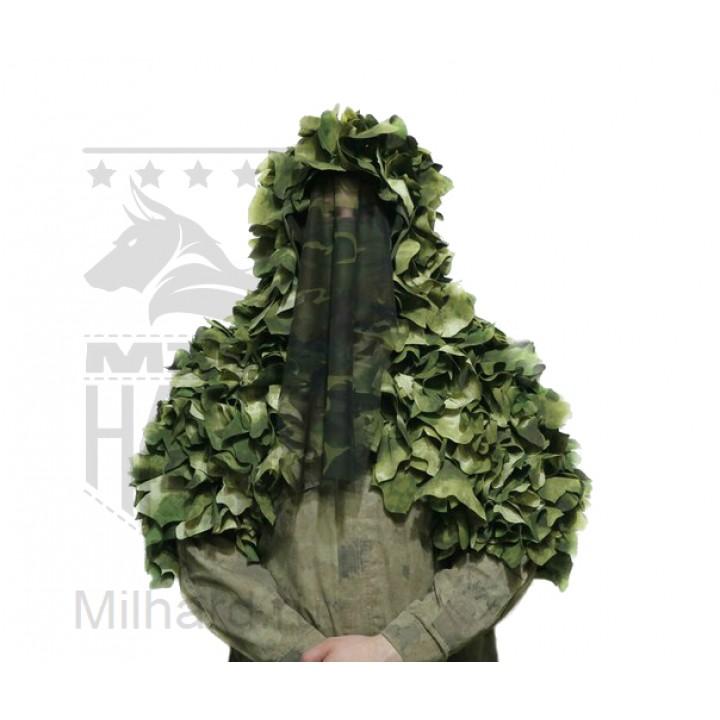 3D LEAF viper hood (short sleeves) / Лиственная накидка разведчика с короткими рукавами