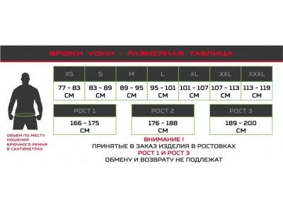 """Новая таблица размеров для брюк """"Лес"""", """"Урон"""" и """"Археолог"""" от производителя """"VОИН"""""""
